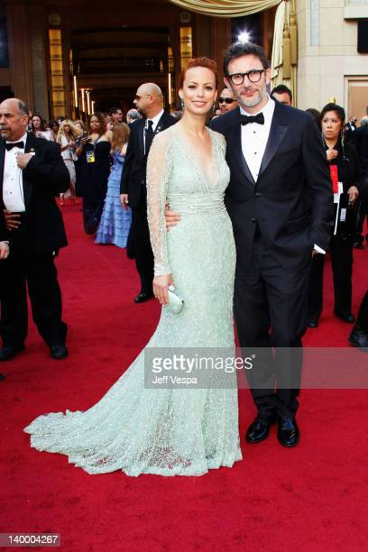 Actress Berenice Bejo and Director Michel Hazanavicius arrives at the 84th Annual Academy Awards held at the Hollywood Highland Center on February 26...