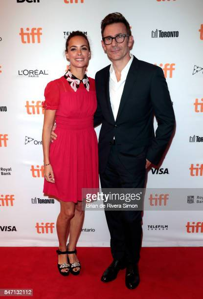 Actress Berenice Bejo and director Michel Hazanavicius attend the 'Redoubtable' premiere during the 2017 Toronto International Film Festival at The...