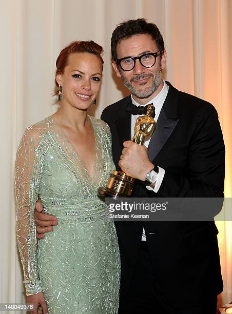 Actress Berenice Bejo and director Michel Hazanavicius attends Chopard at 20th Annual Elton John AIDS Foundation Academy Awards Viewing Party at The...