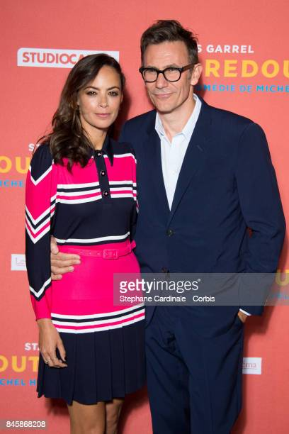 Actress Berenice Bejo and Director of the Movie Michel Hazanavicius attend the 'Le Redoutable' Paris Premiere at Cinema du Pantheon on September 11...