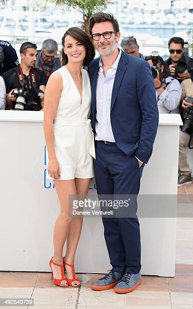 Actress Berenice Bejo and director/producer Michel Hazanavicius attend 'The Search' photocall at the 67th Annual Cannes Film Festival on May 21 2014...