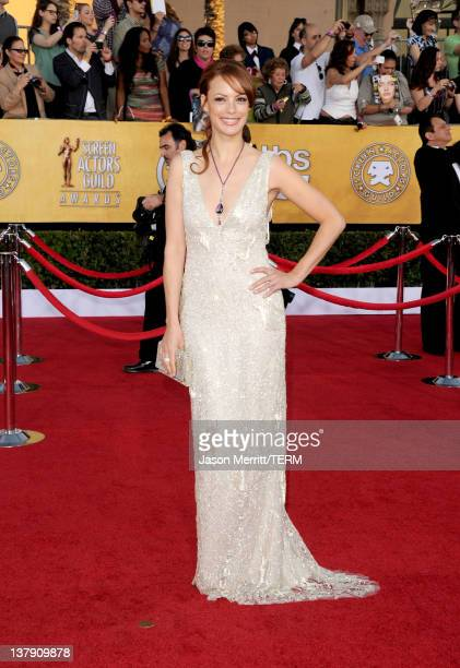 Actress Berenice Bejo arrives at the 18th Annual Screen Actors Guild Awards at The Shrine Auditorium on January 29 2012 in Los Angeles California
