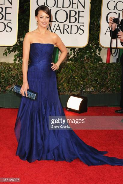 Actress Berenice Bejo arrives at the 69th Annual Golden Globe Awards held at the Beverly Hilton Hotel on January 15, 2012 in Beverly Hills,...