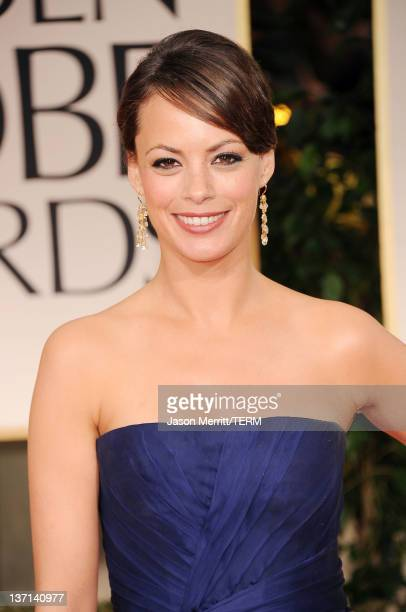 Actress Berenice Bejo arrives at the 69th Annual Golden Globe Awards held at the Beverly Hilton Hotel on January 15 2012 in Beverly Hills California