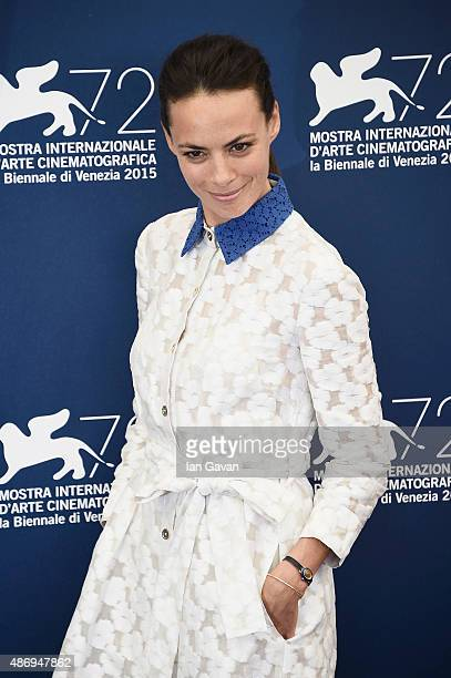 Actress Berenice Bejo attends a photocall for 'The Childhood Of A Leader' during the 72nd Venice Film Festival at Palazzo del Casino on September 5...