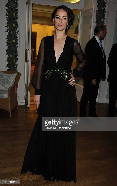 Actress Berenice Bejo attends the Vanity Fair And Gucci Party during the 65th Annual Cannes Film Festival at Hotel Du Cap on May 19 2012 in Antibes...