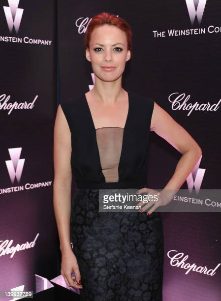 Actress Berenice Bejo attends the Weinstein Company celebrates the 2012 Academy Awards presented by Chopard at Soho House on February 25 2012 in West...