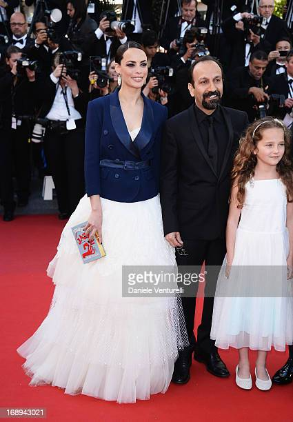Actress Berenice Bejo, director Asghar Farhadi and actress attend the Premiere of 'Le Passe' during The 66th Annual Cannes Film Festival at Palais...