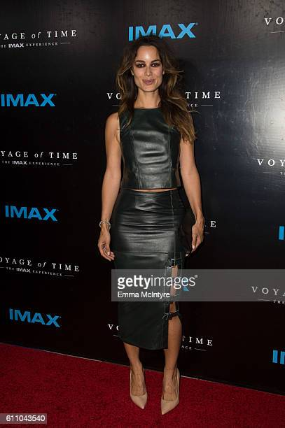 Actress Berenice Marlohe attends the premiere of IMAX's Voyage Of Time The IMAX Experience at California Science Center on September 28 2016 in Los...