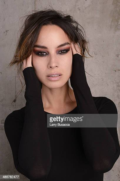 Actress Berenice Marlohe from 5 to 7 poses for the 2014 Tribeca Film Festival Getty Images Studio on April 19 2014 in New York City