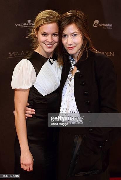 Actress Bernadette Heerwagen and actress Johanna Wokalek attend the 'Die kommenden Tage' film premiere at CineStar on October 27, 2010 in Berlin,...