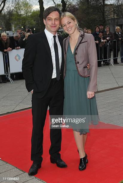 Actress Bernadette Heerwagen and Ole Puppe attend the Grimme Award 2011 on April 1 2011 in Marl Germany