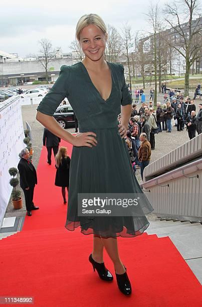 Actress Bernadette Heerwagen attends the Grimme Award 2011 on April 1, 2011 in Marl, Germany.