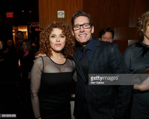 Actress Bernadette Peters and costume designer Dan Lawson attend The Good Fight World Premiere After Party at Jazz at Lincoln Center on February 8...