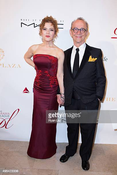 Actress Bernadette Peters and Joel Grey attends The Drama League's Centennial Celebration Honoring Bernadette Peters at The Plaza Hotel on November 2...