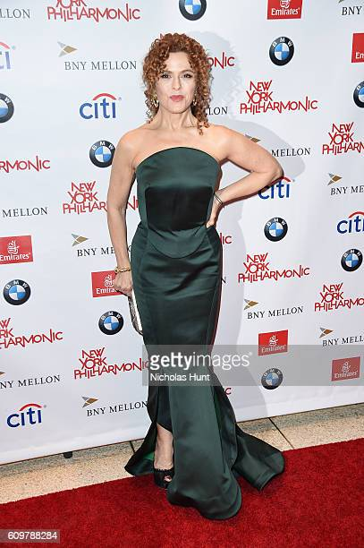 Actress Bernadette Peters attends New York Philharmonic's Opening Gala Celebrating the 175th Anniversary Season at David Geffen Hall on September 21...