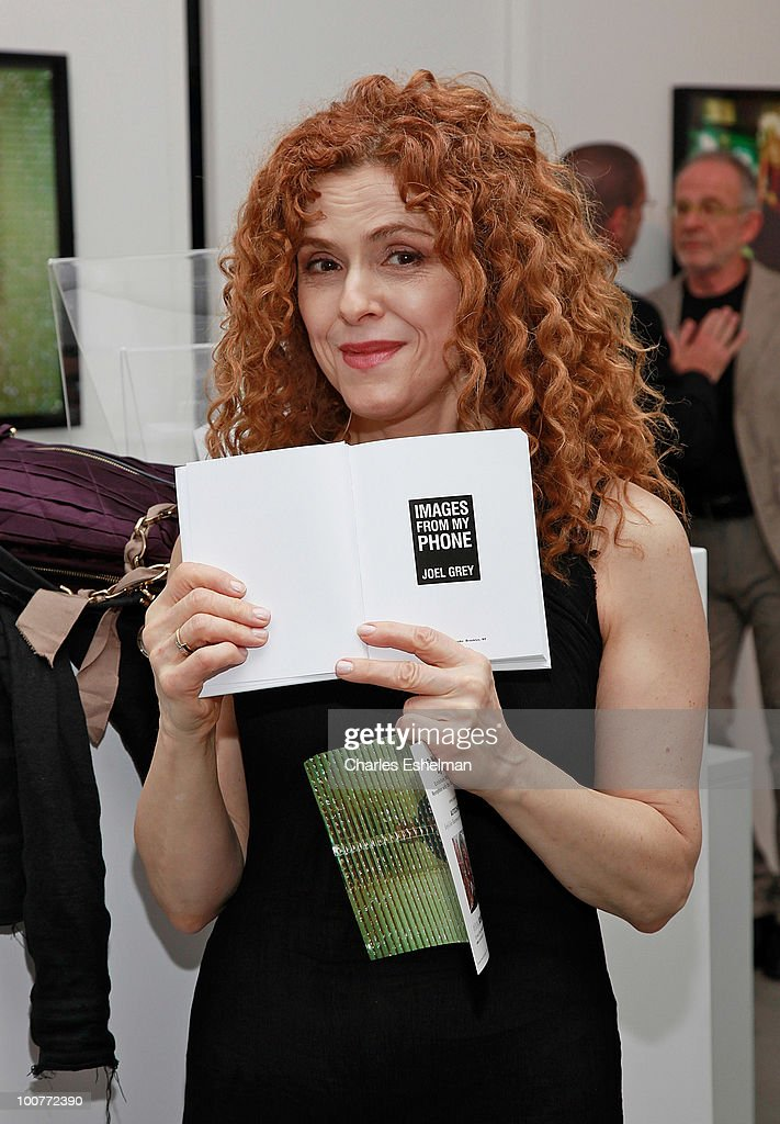 Actress Bernadette Peters attends the photography exhibition opening for '1.3: New Color Images by Joel Grey' at Steven Kasher Gallery on May 25, 2010 in New York City.