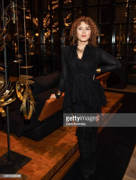 Actress Bernadette Peters attends the Urban Zen Host Artist And Visionary Robert Lee Morris event at 705 Greenwich Street on November 26 2018 in New...