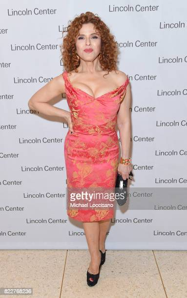 Actress Bernadette Peters of 'Mozart in the Jungle' attends Lincoln Center's Mostly Mozart Opening Night Gala at David Geffen Hall on July 25 2017 in...
