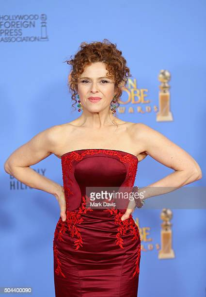 Actress Bernadette Peters of Mozart in the Jungle poses in the press room during the 73rd Annual Golden Globe Awards held at the Beverly Hilton Hotel...