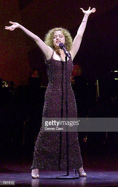Actress Bernadette Peters performs 'There is Nothing Lie a Dame' during the 'Nothing Like A Dame' fundraiser March 18 2002 at the St James theatre in...