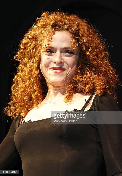 Actress Bernadette Peters poses at Bernadette Peters's performance of AR Gurney's Love Letters to Benefit Opening Act at the New World Stages on...