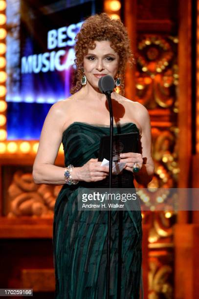 Actress Bernadette Peters speaks onstage at The 67th Annual Tony Awards at Radio City Music Hall on June 9 2013 in New York City