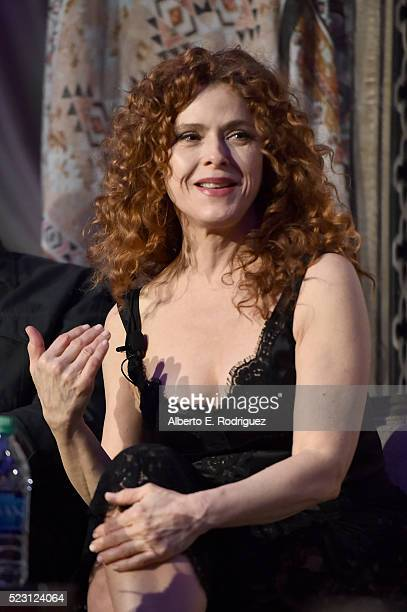 Actress Bernadette Peters speaks onstage during the Screening and QA for Amazon's Mozart In The Jungle at Hollywood Roosevelt Hotel on April 21 2016...