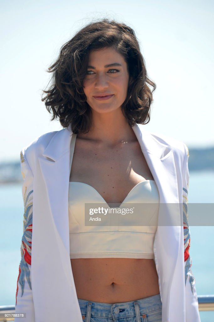 Actress Berrak Tuzunatac posing for a photocall on the occasion of the MipTV, International Television Programme Market, in Cannes (south-eastern France) on .