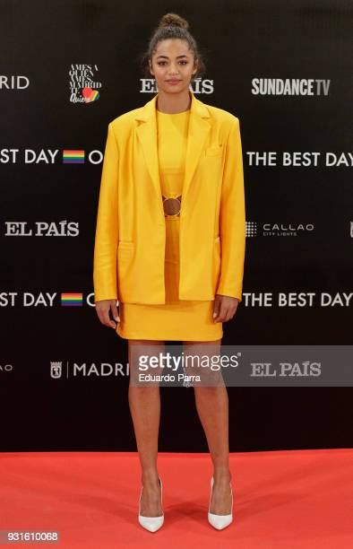 Actress Berta Vazquez attends the 'The Best Day of My Life' premiere at Callao cinema on March 13 2018 in Madrid Spain