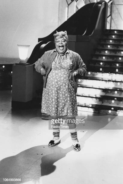 Actress Bertice Reading performing on the set of a television show October 19th 1983