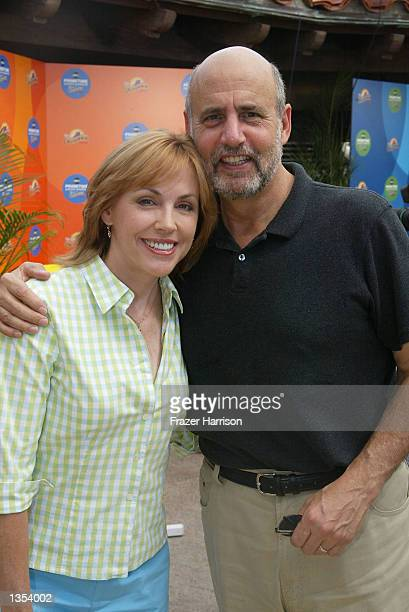 Actress Bess Armstrong and Jeffrey Tambor of the ABC network show That Was Then attends the ABC Primetime Preview Weekend on August 25 2002 at...