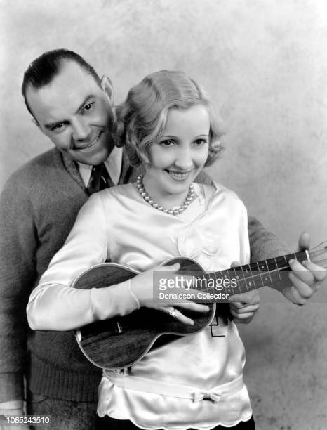 Actress Bessie Love and Cliff Edwards in a scene from the movie The Broadway Melody