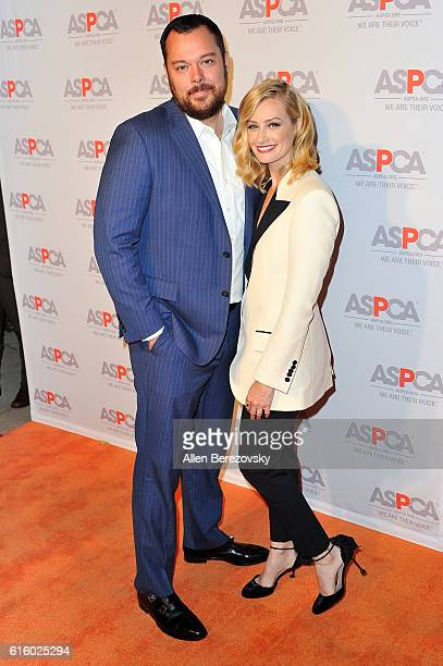 Actress Beth Behrs and actor Michael Gladis attend ASPCA Benefit event at Private Residence on October 20 2016 in Los Angeles California