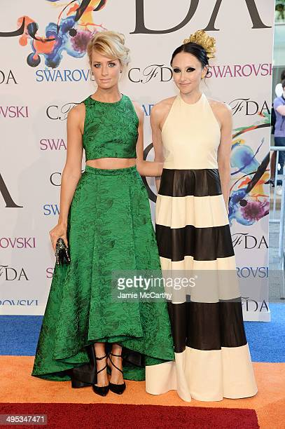 Actress Beth Behrs and designer Stacey Bendet attend the 2014 CFDA fashion awards at Alice Tully Hall, Lincoln Center on June 2, 2014 in New York...