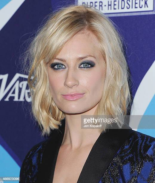 Actress Beth Behrs arrives at the 2nd Annual Unite4humanity Event at The Beverly Hilton Hotel on February 19 2015 in Beverly Hills California