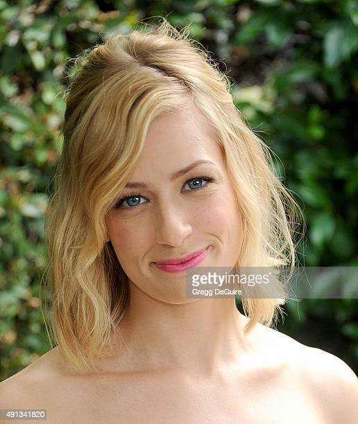 Actress Beth Behrs arrives at The Rape Foundation's Annual Brunch at Greenacres The Private Estate of Ron Burkle on October 4 2015 in Beverly Hills...