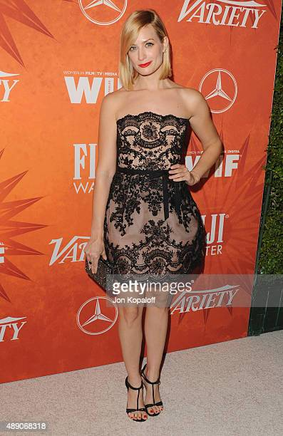 Actress Beth Behrs arrives at the Variety And Women In Film Annual Pre-Emmy Celebration at Gracias Madre on September 18, 2015 in West Hollywood,...