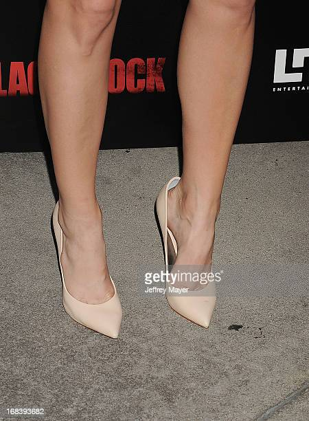Actress Beth Behrs at the 'Black Rock' Premiere held at ArcLight Hollywood on May 8 2013 in Hollywood California