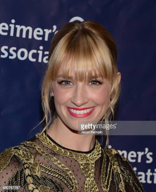 Actress Beth Behrs attends 22nd A Night At Sardi's at The Beverly Hilton Hotel on March 26 2014 in Beverly Hills California