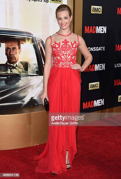 Actress Beth Behrs attends the 'Mad Men' Black & Red Ball at Dorothy Chandler Pavilion on March 25, 2015 in Los Angeles, California.