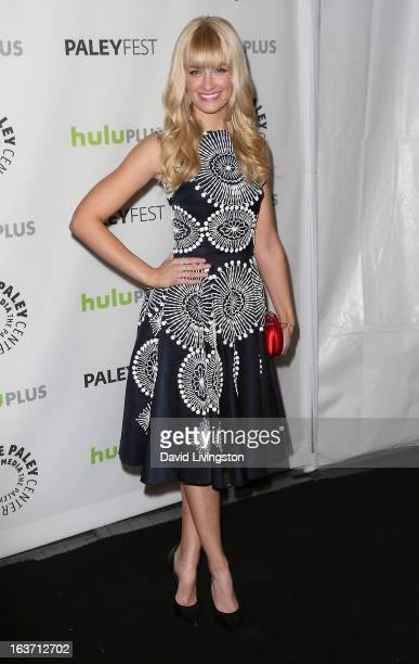 Actress Beth Behrs attends The Paley Center For Media's PaleyFest 2013 honoring '2 Broke Girls' at the Saban Theatre on March 14 2013 in Beverly...