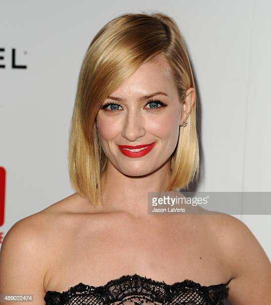 Actress Beth Behrs attends the Television Industry Advocacy Awards at Sunset Tower on September 18 2015 in West Hollywood California