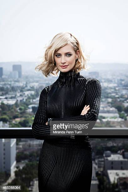 Actress Beth Behrs is photographed for Vegas Magazine on October 16 2014 in Los Angeles California