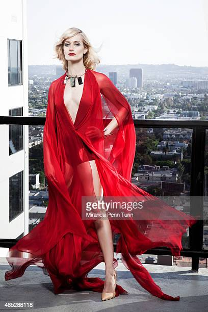 Actress Beth Behrs is photographed for Vegas Magazine on October 16 2014 in Los Angeles California PUBLISHED IMAGE