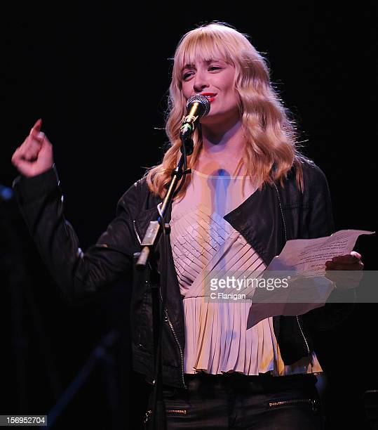 Actress Beth Behrs of the Tv Show 2 Broke Girls performs at The Last Waltz Tribute Concert at The Warfield Theater on November 24 2012 in San...