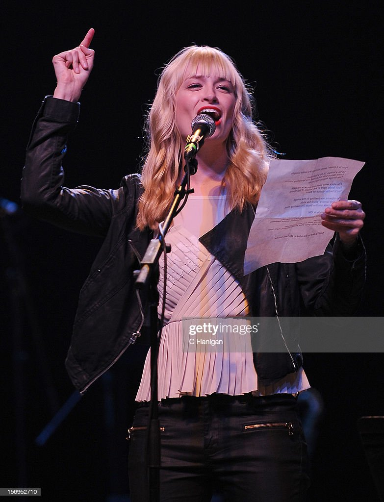 Actress Beth Behrs of the Tv Show 2 Broke Girls performs at The Last Waltz Tribute Concert at The Warfield Theater on November 24, 2012 in San Francisco, California.