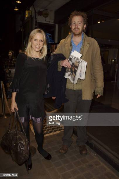 Actress Beth Cordingly and Guest arrives at the west end transfer of Dealer's Choice at Trafalger Studios in London on December 11 2007 in London