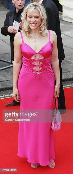 Actress Beth Cordingly arrives at The Pioneer British Academy Television Awards at the Theatre Royal on April 17 2005 in London