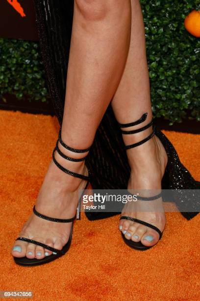 Actress Beth Dover shoe detail attends the Season 5 celebration of 'Orange is the New Black' at Catch on June 9 2017 in New York City
